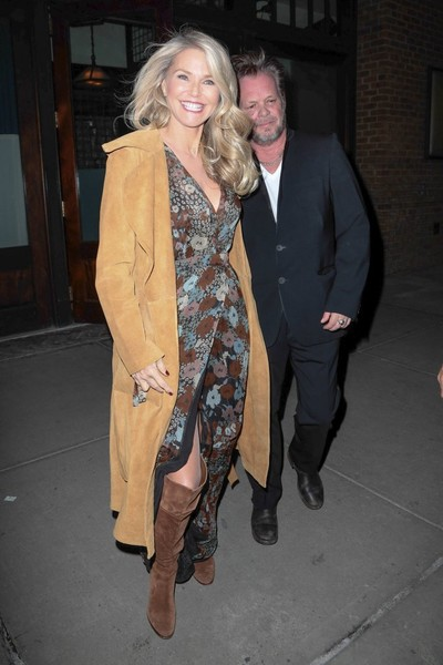 Christie Brinkley and John Mellencamp Go Out in NYC