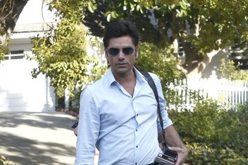 John Stamos John Stamos and Caitlin McHugh Leave a Party in Studio City