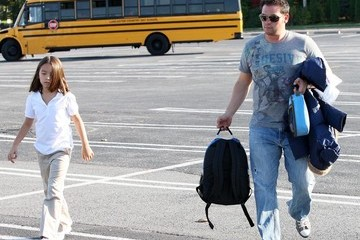 Cara Gosselin Jon Gosselin Picking Up Mady And Cara From The Bus Stop