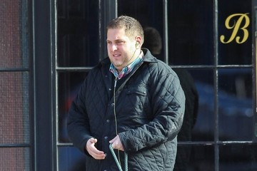 Jonah Hill Jonah Hill Walks His Dog