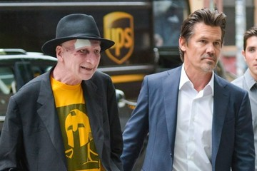 Josh Brolin Josh Brolin and Frank Miller Out in NYC