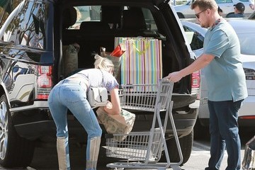 Julia Carey James Corden Shops at Whole Foods in Brentwood