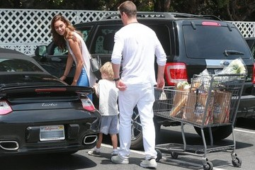 Julian Thicke Robin Thicke Out Grocery Shopping