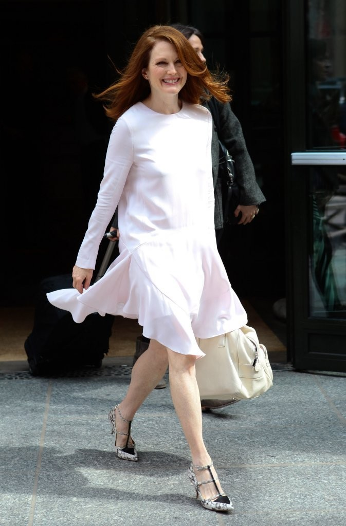 Julianne Moore Steps Out in NYC