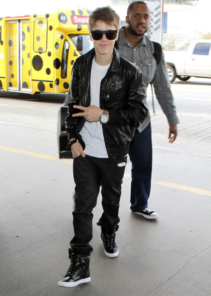 Justin Bieber Pop sensation Justin Bieber arrives at LAX airport to catch a flight to London.