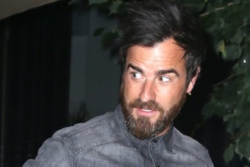 Justin Theroux Jennifer Aniston & Justin Theroux Grab Dinner In NYC