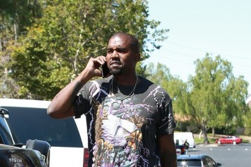 Kanye West Kanye West At His Office Building In Calabasas