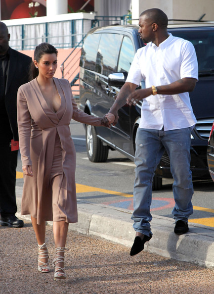 Kanye West - Celebs Spotted Out During The 65th Annual Cannes Film Festival