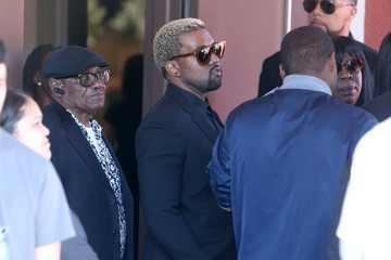 Kanye West Kim Kardashian and Kanye West Attend the Funeral for Kanye's Nephew