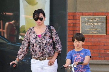 Karen Duffy Karen Duffy Out with Her Son in NYC