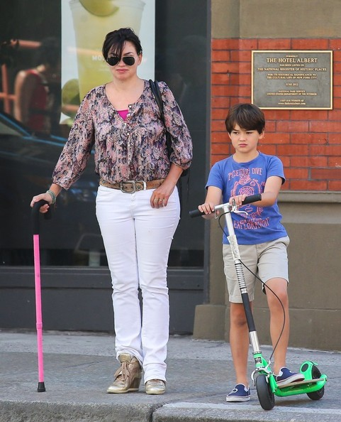 Karen Duffy Out with Her Son in NYC