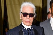 Karl Lagerfeld Out and About in NYC
