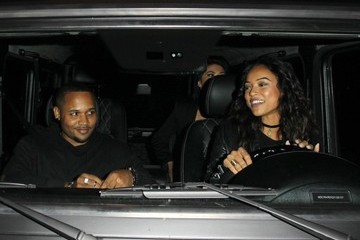 Karrueche Tran Celebrities Dine Out At Craig's Restaurant