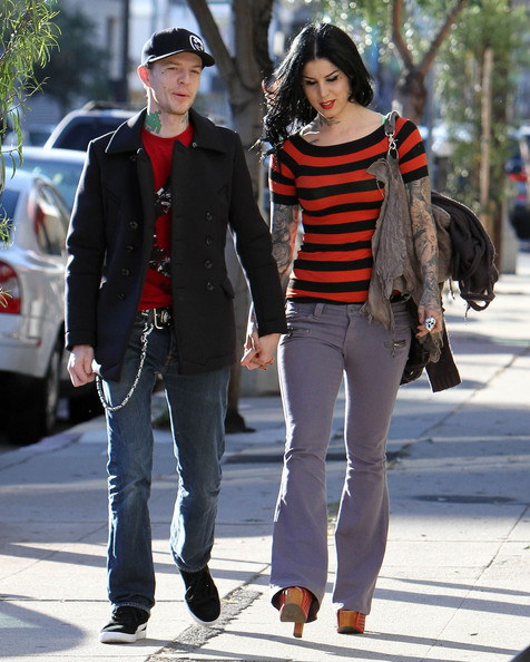 Kat Von D And Deadmau5 Out For Lunch At Joan's On Third