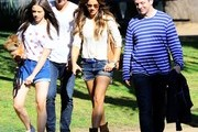 'Eliza Graves' actress Kate Beckinsale and husband spend Father's Day at a park with her daughter Lily Mo Sheen and her father Michael Sheen in Brentwood, California on June 15, 2014. Kate, Len and Michael all worked together on the movie 'Underworld' and despite Kate now being with Len, the family gets along like best of friends.