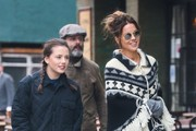 Actress Kate Beckinsale is spotted out and about with her daughter Lily Mo Sheen and her ex Michael Sheen on April 6, 2016 in New York City, New York. Kate, who reportedly recently called it quits with husband Len Wiseman, was with Michael from 1995 until 2003, although they never married.