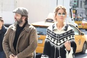 Actress Kate Beckinsale is spotted out and about with her daughter Lily Mo Sheen and her ex Michael Sheen on April 6, 2016 in New York City, New York.