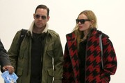 Kate Bosworth & Michael Polish Arriving On A Flight At LAX