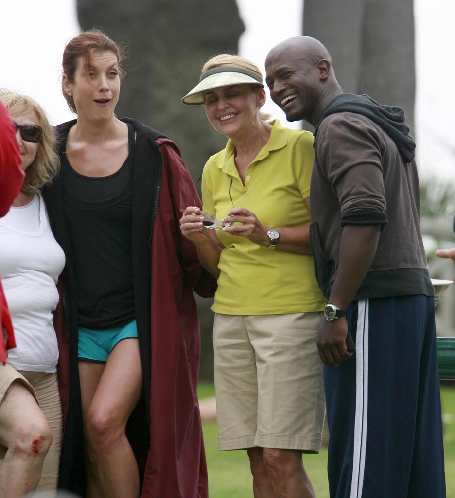 Kate Walsh And Taye Diggs On The Set Of 'Private Practice
