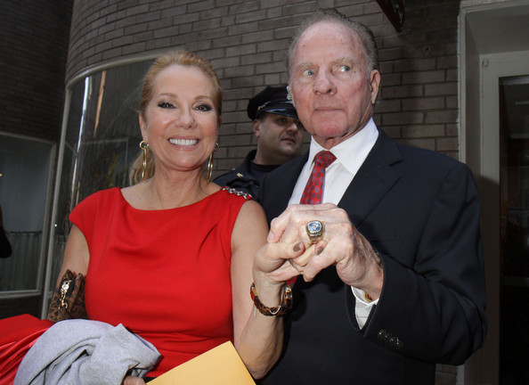 Frank Gifford and Kathie Lee Gifford - Guest Arrive To Kicks Off Super