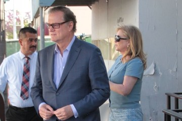 Kathy Hilton Rick and Kathy Hilton Lunch in Beverly Hills