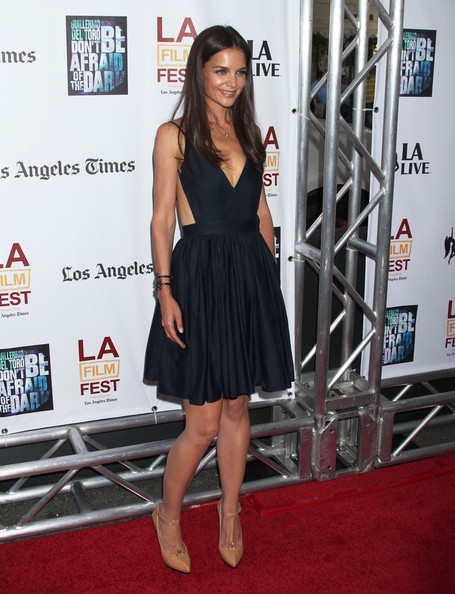 "Katie Holmes Celebrities attend the ""Don't Be Afraid of The Dark"" premiere during the 2011 Los Angeles Film Festival at Regal Cinemas L.A. Live."