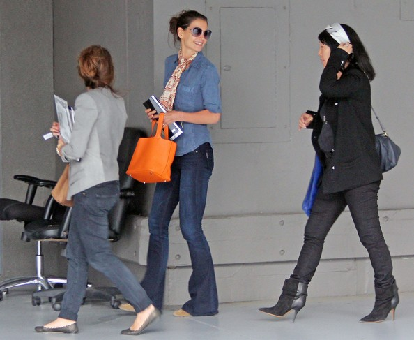 Katie Holmes Katie Holmes is pictured leaving Urth Cafe with a friend ...