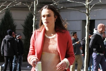 Keira Knightley Celebrities on the Set of 'Collateral Beauty'