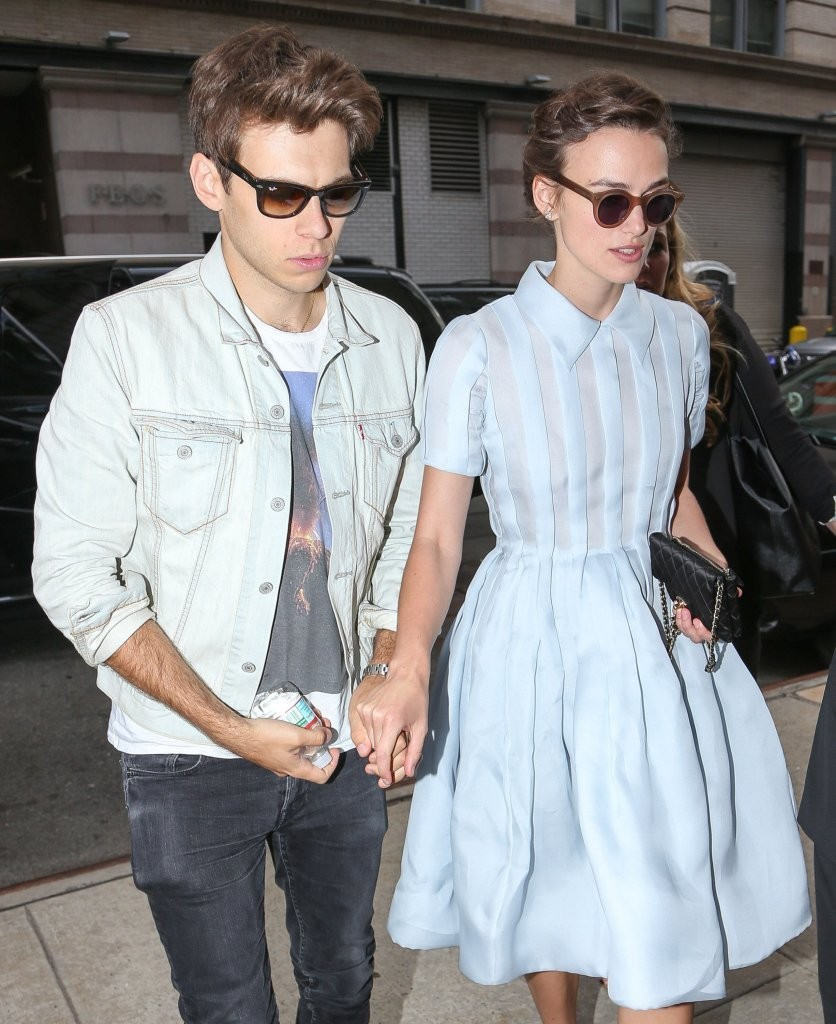 Keira Knightley & James Righton Stopped By An Office Building