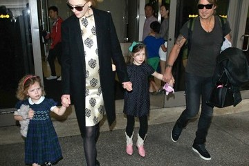 Keith Urban Nicole Kidman and Family at LAX