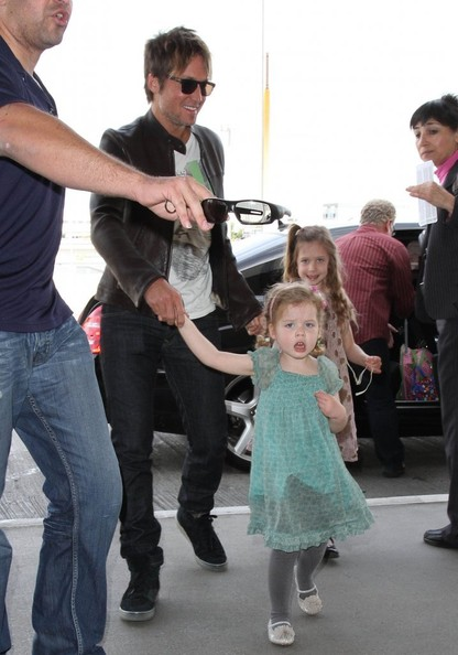 Keith Urban & His Girls Departing From LAX []