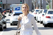 Kelly Rutherford Wears All White In Beverly Hills