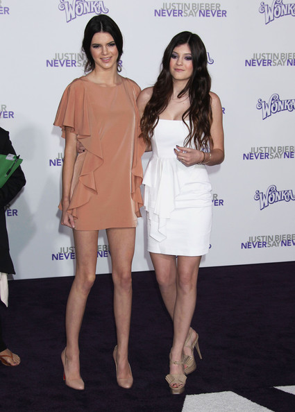 """Kendall Jenner Celebrities attend the """"Justin Bieber: Never Say Never"""" premiere at the Nokia Theater in Los Angeles."""