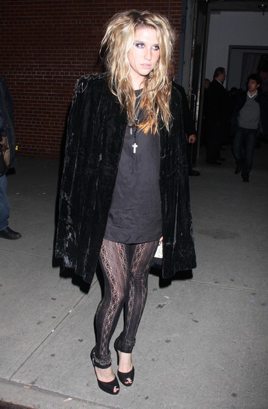 Celebrities Spotted Out And About In New York [photograph,black,fashion model,footwear,coat,tights,little black dress,fashion,flooring,fashion accessory,leg,celebrities,kesha,musician,artist,john mayer,pete wentz,sean kingston,fashion,new york,kesha,musician,artist,celebrity,animal,leather jacket,see-through clothing,fashion,photograph]