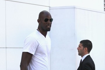 Kevin Garnett Kevin Garnett Shops at Chanel in Beverly Hills