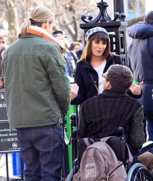 Stars On Set Of 'Glee' In NYC []