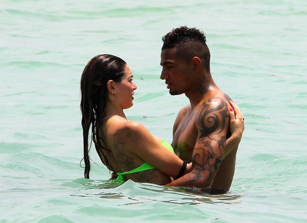 Kevin boateng's girlfriend, says he cant play football because of too much sex