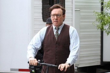 Kevin Spacey Stars Perform on the Set of 'Rebel in the Rye'