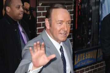 Kevin Spacey Celebs Visit the 'Late Show with David Letterman'