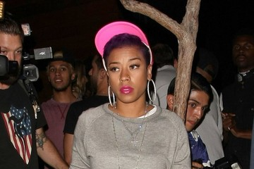 Keyshia Cole Celebrities Enjoy a Night out at 1OAK Nightclub