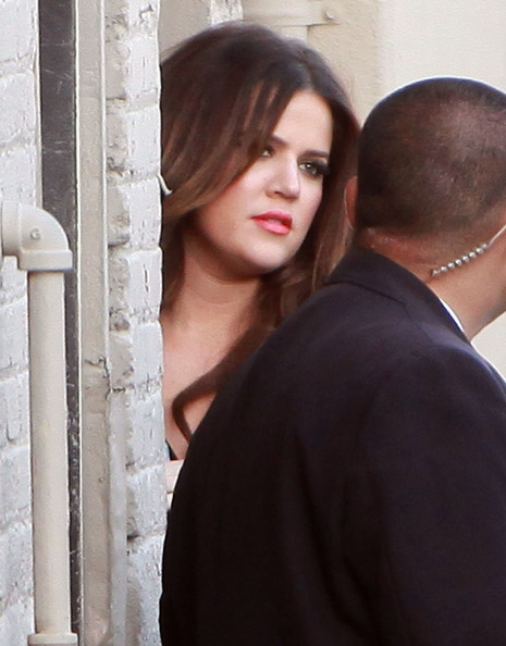 Khloe Kardashian Reality star Khloe Kardashian arriving for the Jimmy Kimmel Live show in Hollywood, CA.