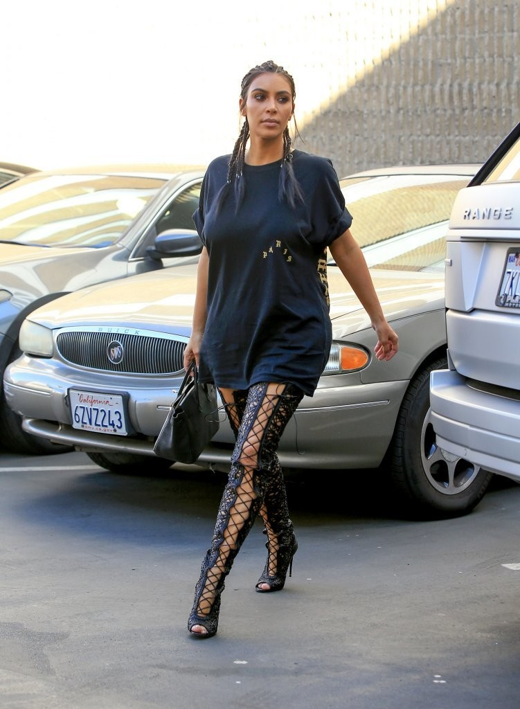 Kim Kardashian Spotted Out in Beverly Hills, California 08/04/2016
