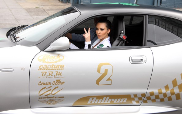 Kim Kardashian At The Bullrun Rally Race