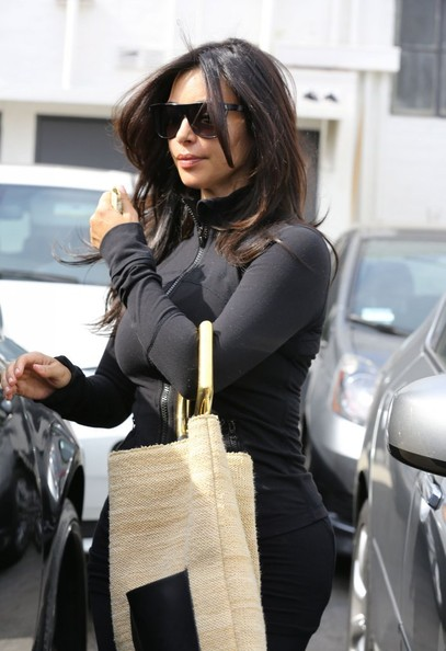 Kim Kardashian Visits The Hair Salon