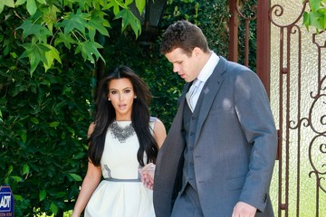 Kim+Kardashian in Kim Kardashian & Kris Humphries Leaving Her House