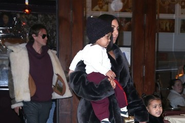 Kim Kardashian North West Kim Kardashian Goes Out With Her Kids and Friends in NYC