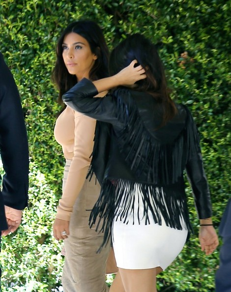 kim and kourtney kardashian attend a baby shower zimbio
