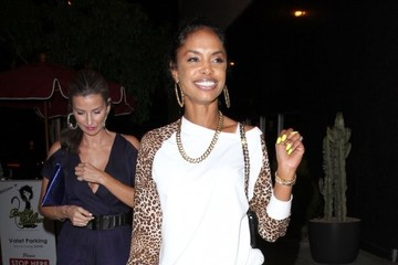 Kim Porter Celebrities Enjoy a Night Out at Bootsy Bellows