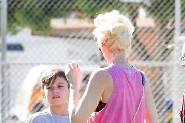 Kingston Rossdale Gwen Stefani Watches Her Son's Soccer Game in Studio City