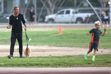 Kingston Rossdale Gavin Rossdale Takes His Boys To A Flag Football Game